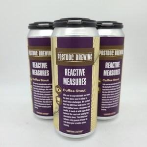 Reactive Measures Coffee Stout - 4pk 16oz Cans